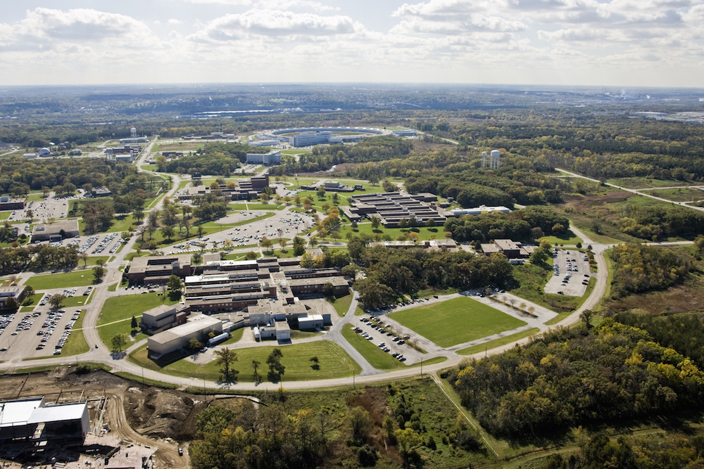 Aerial shot of Argonne facilities