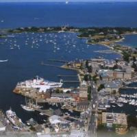 Aerial view of the Marine Biological Laboratory in Woods Hole