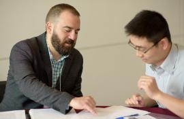 Mark Ciaccio (PhD'12) works with a myCHOICE participant.