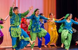 UChicago students dance at a cultural event.
